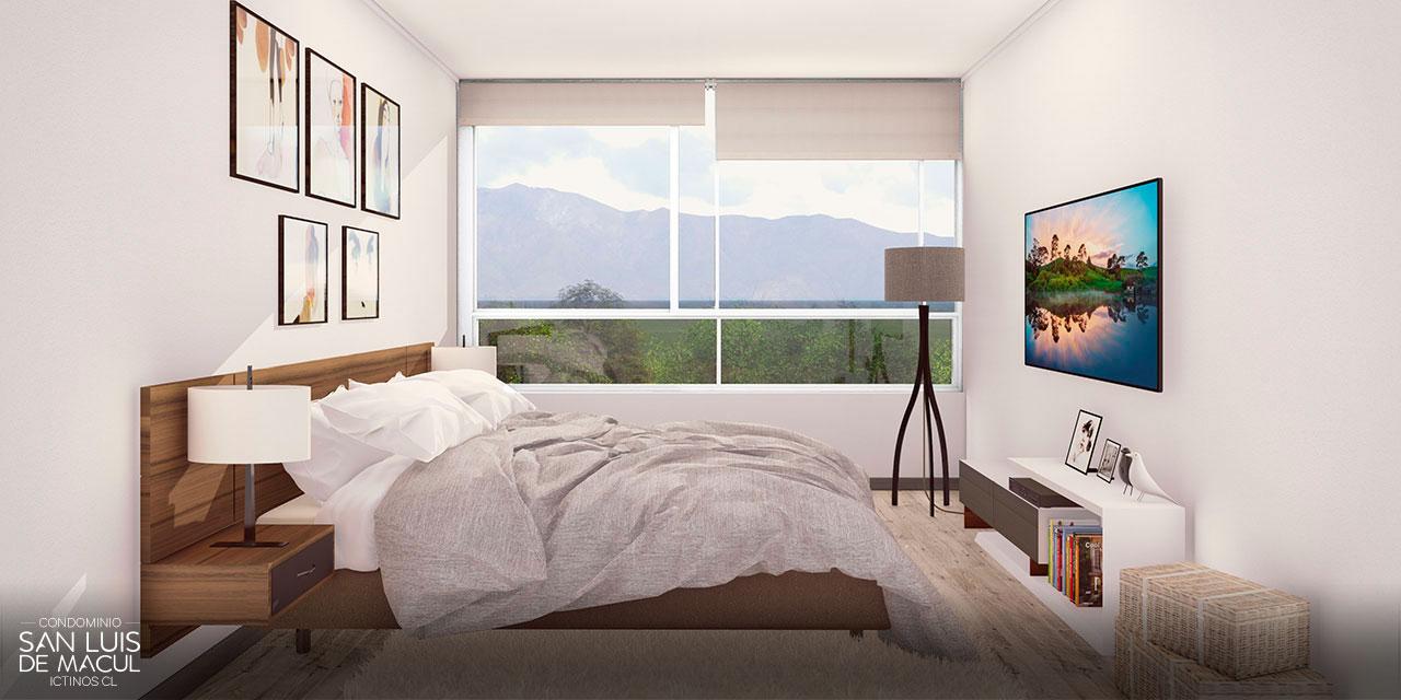 Dormitorio principal de Proyecto Condominio San Luis de Macul