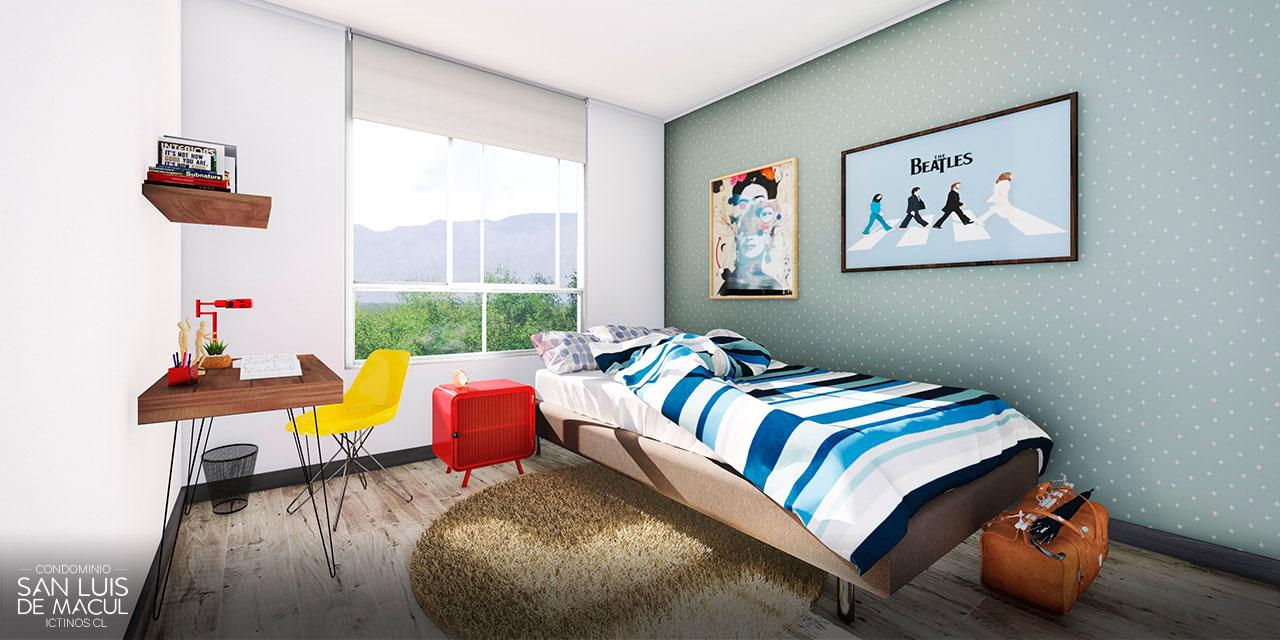 Dormitorio de Proyecto Condominio San Luis de Macul