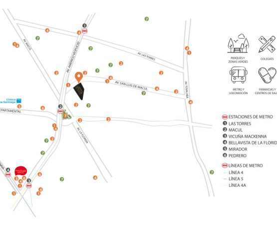 San Luis de Macul - Mapa