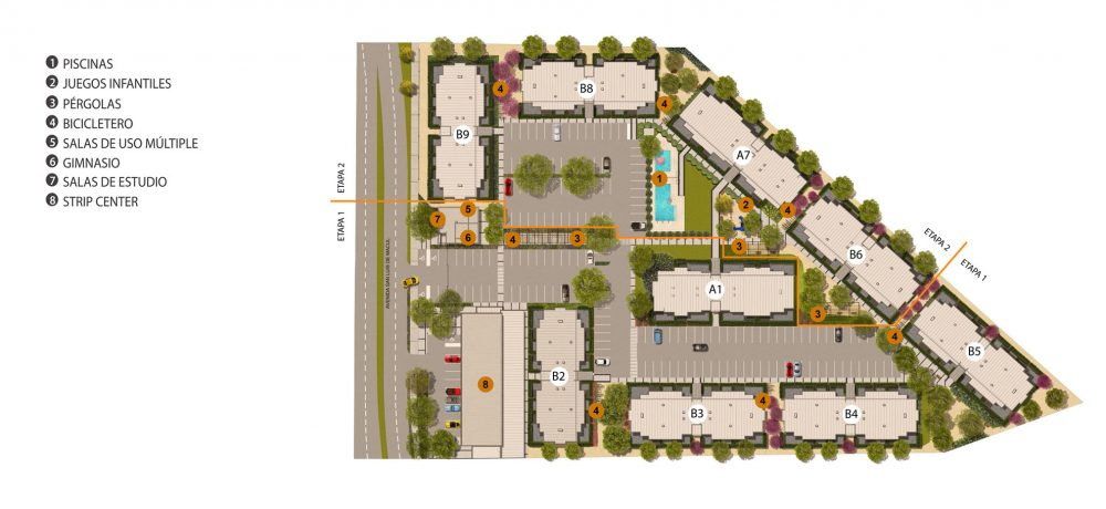 Condominio San Luis - Plano Emplazamiento