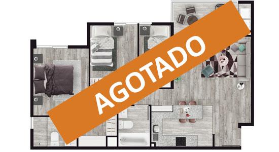 Planta o Modelo A Agostado Proyecto Condominio San Luis de Macul