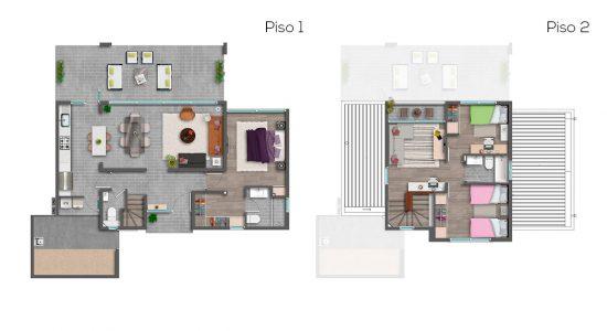 Casa C - 116 - Cond. Las Loicas