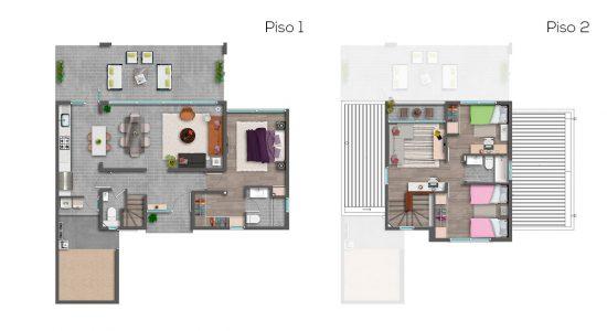 Casa C1 - 116 - Cond. Las Loicas