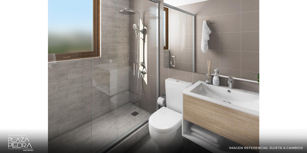 Baño Tipo Ai1 de Condominio Plaza Piedra