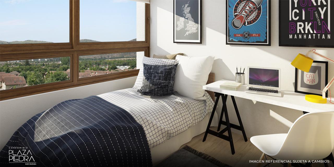 Dormitorio Tipo Ai1 de Condominio Plaza Piedra