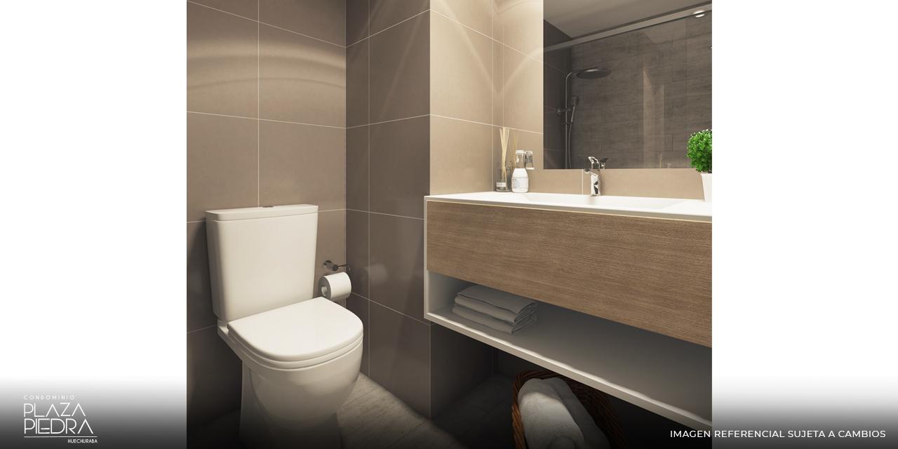 Baño Tipo Bm de Condominio Plaza Piedra