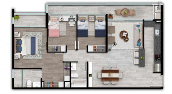 Tipo AI2 Condominio Plaza Piedra